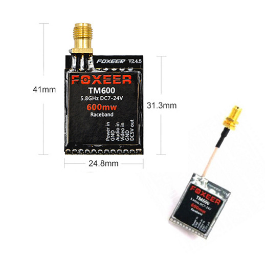 Foxeer TM600 600mW 5.8G 40CH Mini VTX with Race Band
