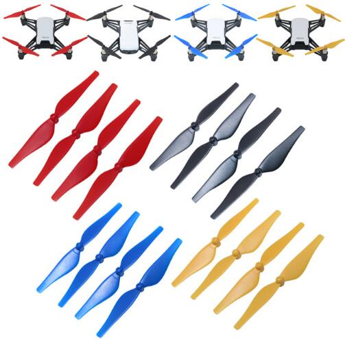 4pcs Colourful Tello Propeller Quick Release Propellers for DJI Tello Mini Drone Propeller CCW/CW Props Drone Accessories