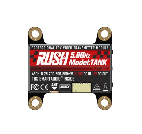 RUSH VTX TANK 5.8GHz 48CH PIT 25 200 500 800mW Transmitter For FPV Racing Drone