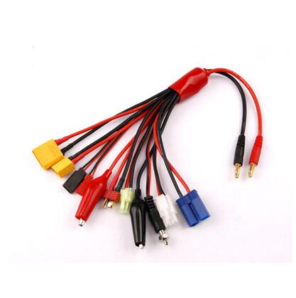 10 In 1 Multifunction Lipo Battery Charging Cable XT60 XT90 EC5 T JST Tamiya JR Futuba Plug Connectors