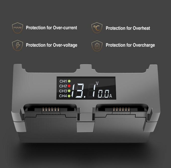 Charger For DJI Spark Drone Fast Charging Hub EU Plug ...