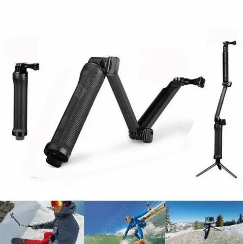 Folding Three-way Adjustment Arm Selfie Stick GoPro Accessories for Camera